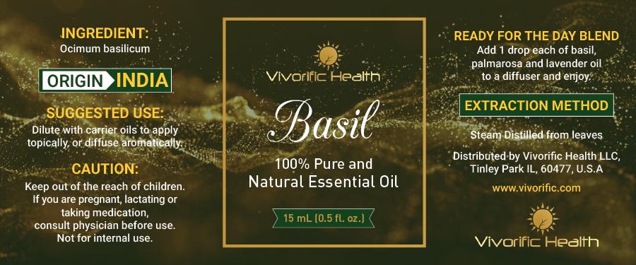 Basil Essential Oil-Vivorific Health LLC -
