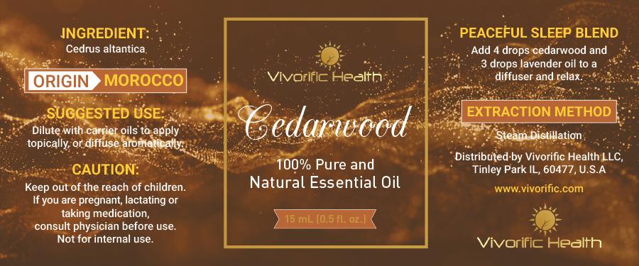 Cedarwood Essential Oils - Vivorific Health LLC -
