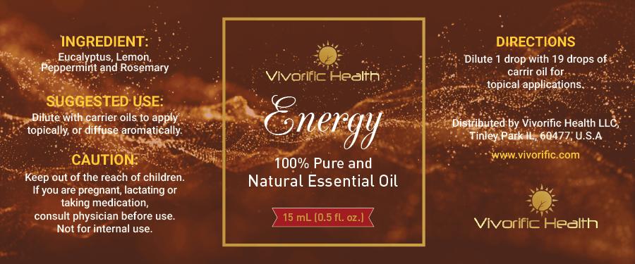 Energy Essential Oil - Vivorific Health LLC -