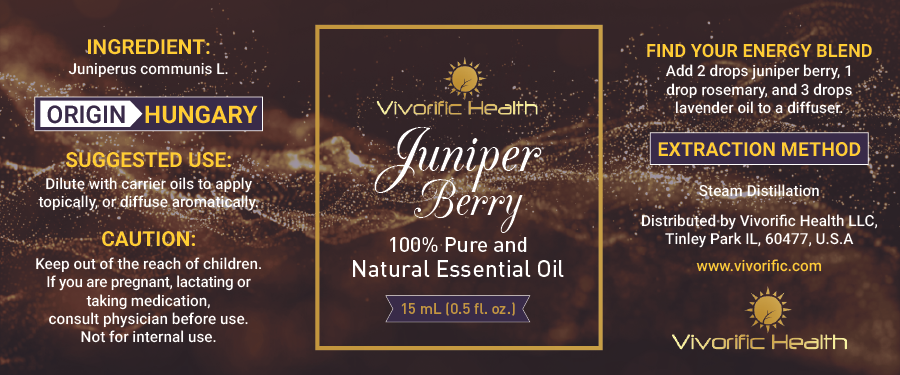 Juniper Berry Essential Oil - Vivorific Health LLC -