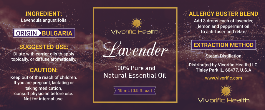 Lavender Essential Oil-Bulgaria - Vivorific Health LLC -