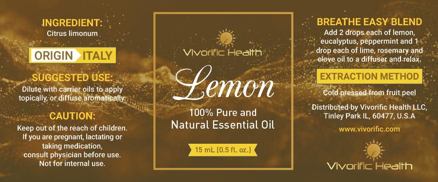 Lemon Essential Oil - Vivorific Health LLC -