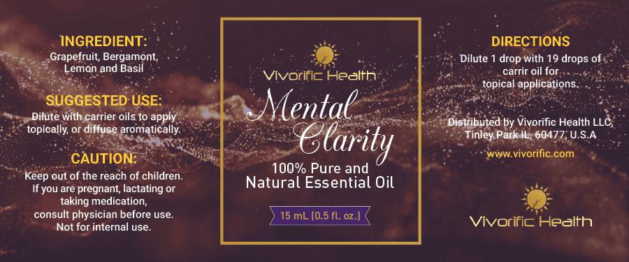 Mental Clarity Essential Oil - Vivorific Health LLC -