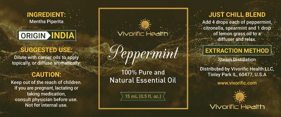 Peppermint Essential Oil - Vivorific Health LLC -