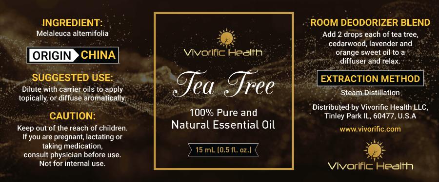Tea Tree Essential Oil - Vivorific Health LLC -