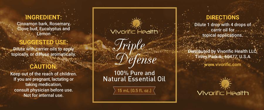 Triple Defense Essential Oil - Vivorific Health LLC -