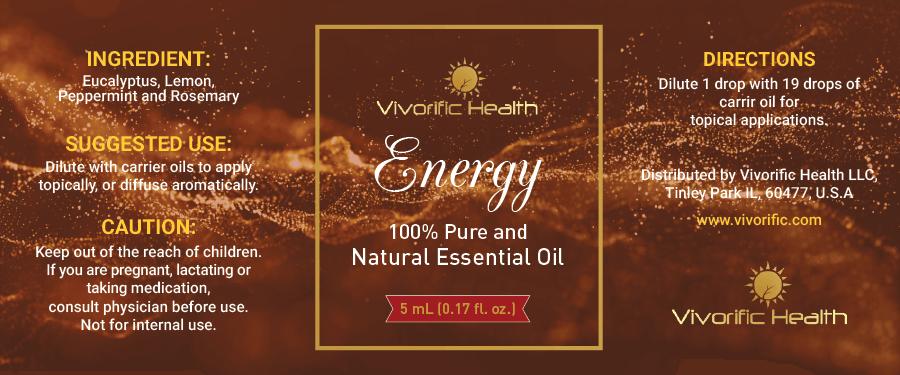 Energy Essential Oil-Vivorific Health LLC-5 mL