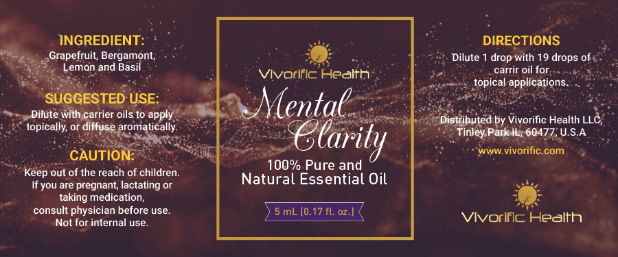 Mental Clarity Essential Oil-Vivorific Health LLC-5 mL