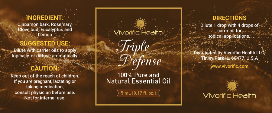 Triple Defense Essential Oil-Vivorific Health LLC-5 mL