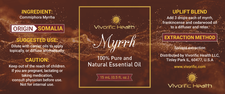 Myrrh Essential Oil -Vivorific Health LLC
