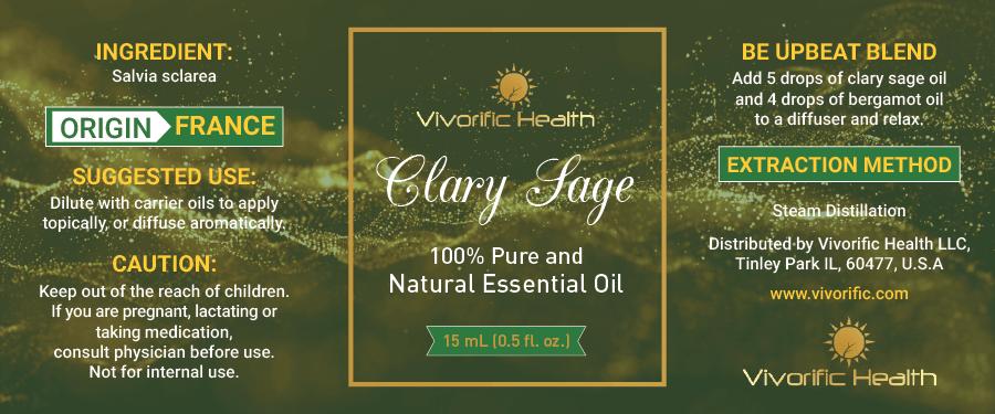 Clary Sage Essential Oil-Vivorific Health LLC